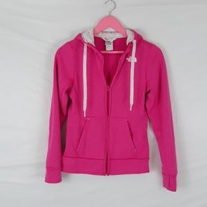 The North Face pink full zipper jacket XSmall